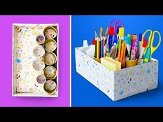 Timestamps: Organize your house with old boxes DIY toilet paper holder Kids will love this cardboard house DIY smartphone projector -. Cardboard Organizer, Cardboard Box Crafts, Cardboard Castle, Recycled Crafts, Diy Crafts, Diy Toilet Paper Holder, Reuse Plastic Bottles, Desk Organization Diy, Diy Organizer
