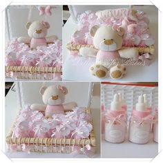 Dellicatess for Babies: kit ursinha Baby Shower Favors, Shower Party, Baby Shower Parties, Baby Shower Themes, Baby Crafts, Felt Crafts, Diy And Crafts, Baby Shawer, Baby Kind