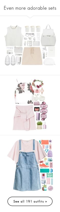 """""""Even more adorable sets"""" by gb041112 ❤ liked on Polyvore featuring Chicnova Fashion, Mansur Gavriel, Whistles, The Webster, Laura Mercier, Christian Dior, Kiehl's, H&M, ROOM COPENHAGEN and Diptyque"""