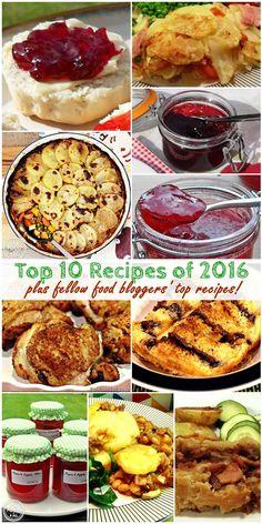 Top 10 Recipes of 2016 plus fellow food bloggers' top recipes - Fab Food 4 All