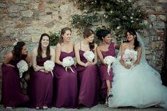 Bride Bouquet. Bridesmaid bouquet. Catello di Meleto. Wedding Tuscany. @KatiaMeleto @david