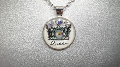 QUEEN NECKLACE SILVER by beaqueenbee on Etsy