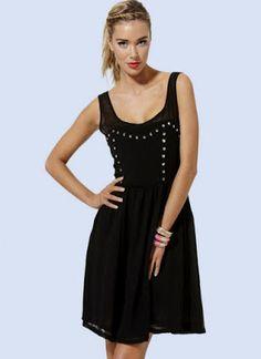Chadwick Design Marketing: US Trendy | Black Studded Dress