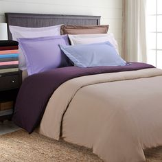 City Superior Wrinkle Resist Embroidered Microfiber F / Q Duvet Cover Set