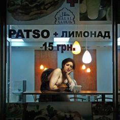 """""""Designer Alexei Kondakov hat eine Reihe von Werken geschaffen, in denen die Zeichen der klassischen Malerei der Renaissance in die Landschaften von Kiew integriert wurden"""""""
