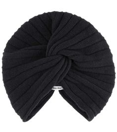 Miu Miu Wool And Cashmere Knitted Turban In Eero Makeup Bouquet Gift, Turban, Miu Miu, Cool Designs, Cashmere, Fashion Accessories, Fascinators, Wool, Hats