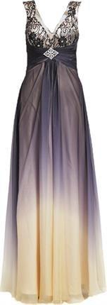 Luxuar Fashion Suknia balowa schwarz/nude