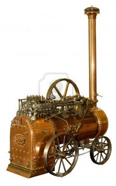model of an ancient steam engine Stock Photo
