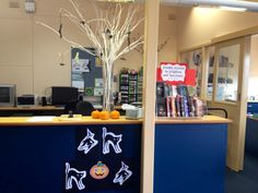 Circulation desk display - Freaky Fiction to Frighten and Fascinate