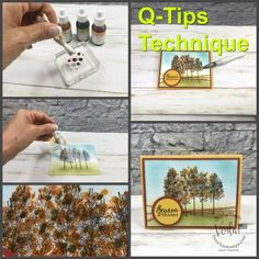 Q-Tips® Pointillism Technique (Frenchie Stamps) Card Making Tips, Card Making Tutorials, Card Making Techniques, Fancy Words, Wink Of Stella, Pointillism, Card Patterns, Stamping Up, Stampin Up Cards