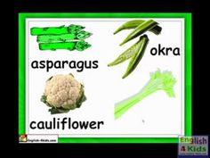 Kids English Lessons: 3.9.2 Vegetables- words