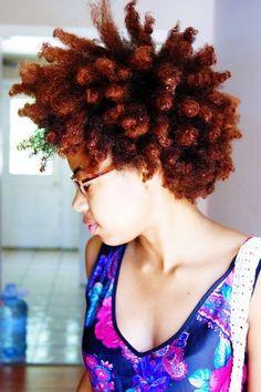 Natural hair hair color