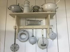 Vintage Enamel Kitchen Utensils
