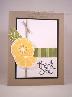 Did You Stamp Today?: Citrus Thank You - Stampin' Up! Apple of My Eye