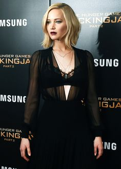 Jennifer Lawrence attends 'The Hunger Games: Mockingjay- Part 2' New York Premiere at AMC Loews Lincoln Square 13 theater on November 18, 2015 in New York City.