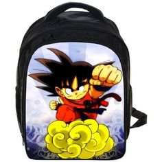 New 13 Inch Backpack Fashion Character Children School Bags Dragon Ball Z Backpack For Kids Girls And Boys Cartoon Backpack