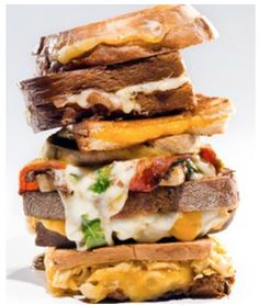 Yummy grilled cheese tower from The Grilled Cheese Guy. Learn how grilled cheese turned into a mobile food business for this entrepreneur. Cheese Tower, Sliced Tomato, Cook Off, Food Truck, Catering, Nom Nom, Grilling, Sandwiches, Good Food