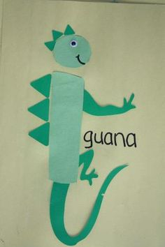 i is for iguana craft Is he giving us the finger?