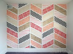 Patchwork Accent Wall | http://thesawdustdiaries.com/patchwork-accent-wall/