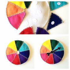 DIY Felt Color Wheel to Teach Kids Colors. Preschool and Kindergarten craft.