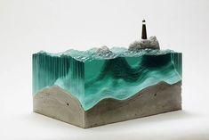 La série Broken Liquid, des superbes sculptures en verre de l'artiste australienBen Young.                       Images ©Ben Young