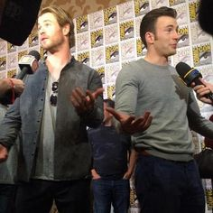 Chris and Chris at San Diego Comic Con 2014.