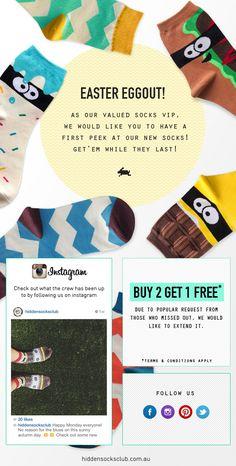 Easter Socks Eggstravaganza! - Beautiful Email Newsletters