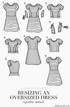 Resizing An Oversized Dress (Tutorial)