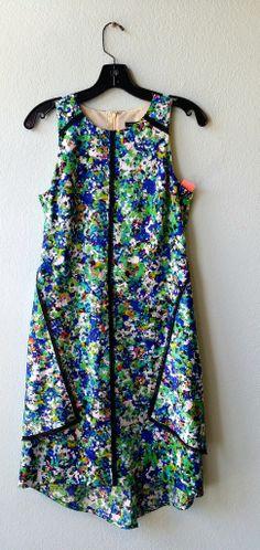 Ann Taylor green and blue floral dress 2 #ann-taylor #blue #color #dress #floral #flower #green #size-2