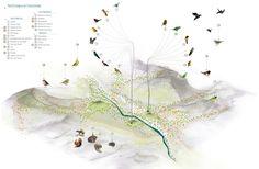 Esquema urbano: conectivdad ecológica. Image Cortesia de Célula Arquitectura