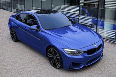 Blue BMW M3 sedan