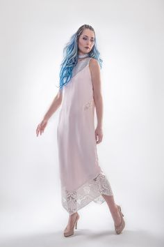 Tulipe $253 #dress #fashion #summer #outfit #pink #flowy #womansfashion #leather #fishleather #responsibleluxury