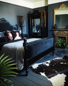home decor - 34 romantic bedroom ideas beautiful bedroom design and decor 15 Beautiful Bedroom Designs, Beautiful Bedrooms, Minimalist Bedroom, Modern Bedroom, Contemporary Bedroom, Dark Romantic Bedroom, Bedroom Neutral, Dark Bedrooms, Dark Furniture Bedroom