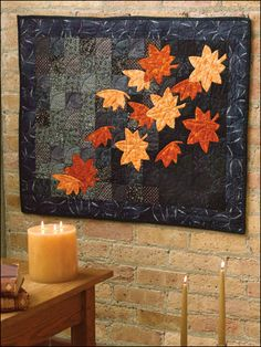 Quilting - Holiday & Seasonal Patterns - Autumn Patterns - Falling Leaves