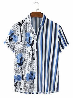 Cotton Shirts For Men, Men Design, Look Cool, Printed Shirts, Casual Shirts, Shirt Style, Cool Outfits, Shirt Designs, Menswear