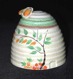 "Honeypot in the Dryday pattern.  Signed ""Clarice Cliff""."