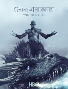 NEYIOX : Game of Thrones Season 7 Poster Noooo! Viserion as the ice dragon of the Night King. Game Of Thrones Poster, Game Of Thrones Tv, Winter Is Here, Winter Is Coming, Game Of Thrones Saison, Got Merchandise, Free Poster Printables, Ice Dragon, Graphics