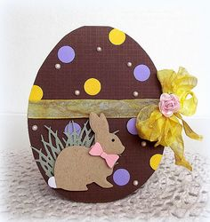 Created by Melissa for the Simon Says Stamp Wednesday challenge (Spring… Diy Easter Cards, Easter Crafts, Holiday Cards, Christmas Cards, Pinterest Inspiration, Chocolate Bunny, Shaped Cards, Marianne Design, Penny Black