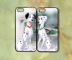 Pongo and Perdita Couple Case UP-iPhone 5, iphone 4s, iphone 4 case, ipod 5, Samsung GS3-Silicone Rubber or Hard Plastic Case, Phone cover on Etsy, $27.99