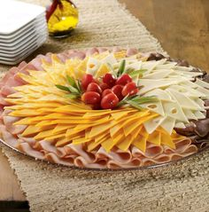 23 super ideas fruit tray ideas for wedding shower food platters Meat Cheese Platters, Meat Platter, Meat Trays, Cheese Plates, Cheese And Cracker Tray, Fruit Appetizers, Appetizer Recipes, Catering Recipes, Catering Ideas