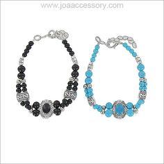 Color Stone Stretch Bracelet