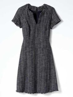 Banana Republic Women's Navy Tweed Fringe Dress Size 14 | Clothing, Shoes & Accessories, Women's Clothing, Dresses | eBay!