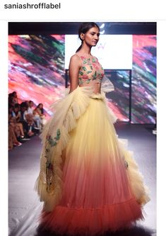 Indian Party Wear, Indian Wear, Lehenga Gown, Anarkali Suits, Lehenga Pattern, Indian Bridal Couture, Sharara Designs, Eastern Dresses, Wedding Saree Blouse