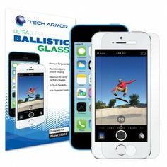 Ultra Clear Ballistic Glass for iPhone 5S, iPhone 5C, & iPhone 5 - BEST screen protector we've ever used!