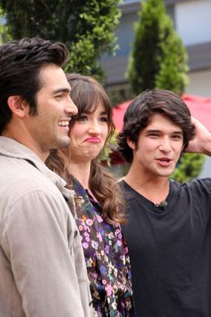 teen wolf: tyler hoechlin, crystal reed, and tyler posey