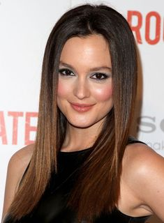 Four ways to get Leighton Meester's long, straight, chic, brunette hairstyle
