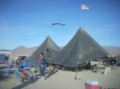 Camp D'Nile's shade cloth pyramids (2009)