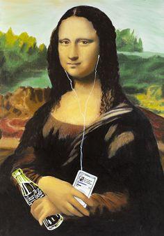 Steve Kaufman, Mona Lisa (2008). Photo: Coca-Cola Finland.