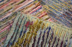 "Art- ""Slashing"" slashing textile art on colouricious -slashing textile art on colouricious - Embroidery Fabric, Fabric Art, Fabric Design, Fabric Manipulation Techniques, Textiles Techniques, Weaving Textiles, Textile Fabrics, Textile Fiber Art, Textile Artists"