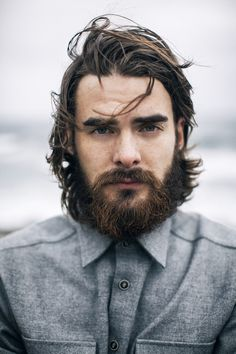 A list of gorgeous bearded men for your consideration! Hairy Men, Bearded Men, Hair And Beard Styles, Long Hair Styles, Awesome Beards, Beard No Mustache, Modern Man, Facial Hair, Handsome